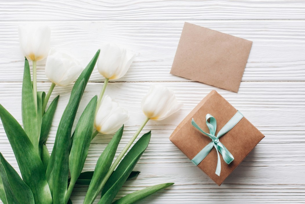 White Flower and Gift Box